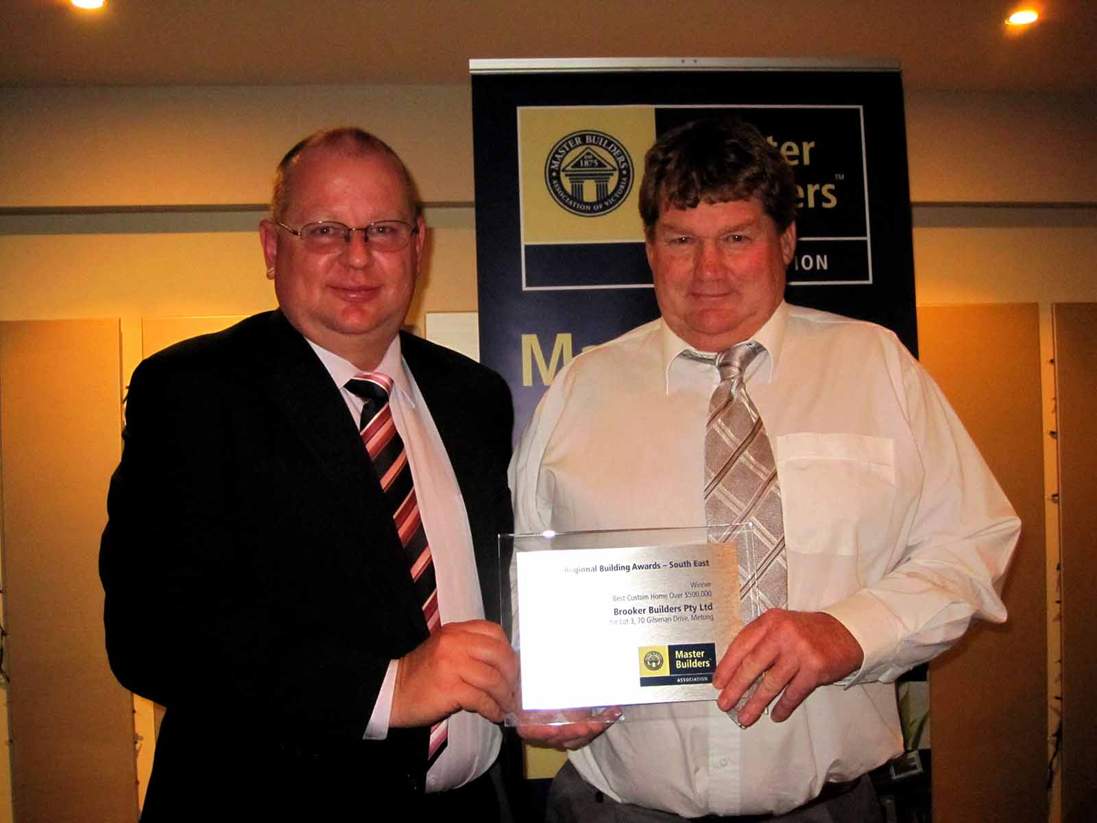 Miles award South East Brooker Builders 2010